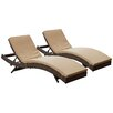 Modway Peer Chaise Lounge with Cushion II (Set of 2)