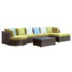 Modway Montana 5 Piece Sectional Deep Seating Group with Cushions