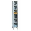 <strong>Safety-View Plus Stock Lockers - Six Tiers - 1 Section (Assembled)</strong> by Hallowell