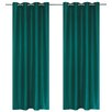 LJ Home Silkana Faux Silk Grommet Window Curtain Panel (Set of 2)