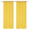 LJ Home Karma Faux Cotton Grommet Curtain Panel (Set of 2)