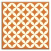 "<strong>Oscar & Izzy</strong> Folksy Love 4-1/4"" x 4-1/4"" Glossy Decorative Tile in Needle Point Orange"