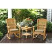 Tortuga Outdoor Portside 3 Piece Plantation Rocker Set (Set of 3)