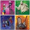 Trend Setters Nightmare Before Christmas Glass Print Coaster (Set of 4)