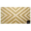 STA Elements Striped Angle Tapestry Light Yellow Area Rug