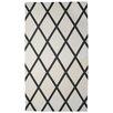 STA Elements Diamond Pattern Tapestry Black & White Area Rug