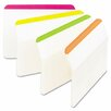 3M Durable tabs, 2w x 1 1/2h, assorted fluorescent, 24/pack