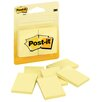 "3M 1.50"" x 2"" Canary Post-It Note Pad (6 Count)"