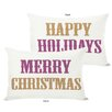 <strong>OneBellaCasa.com</strong> Holiday Merry Christmas and Happy Pillow