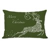One Bella Casa Holiday Snowflake Reindeer Pillow