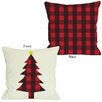 One Bella Casa Plaid Christmas Tree Reversible Pillow