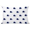 One Bella Casa All Over Whale Stripes Reversible Pillow