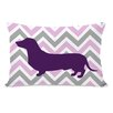 One Bella Casa Dachshund Girl Pillow
