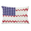 One Bella Casa Chevron American Flag Pillow