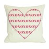 One Bella Casa XOXO Heart Pillow