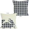 One Bella Casa Plaid Crab Pillow