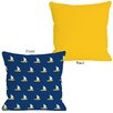 One Bella Casa Whimsical All Over Sailboat Pillow