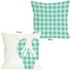 One Bella Casa Plaid Lobster Pillow