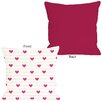 One Bella Casa Hearts on a Line Pillow