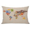 One Bella Casa World Map Pillow