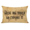 One Bella Casa Great World Map Pillow