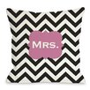 One Bella Casa Mrs Chevron Pillow
