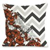 One Bella Casa Amber Chevron Floral Pillow