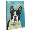 One Bella Casa Doggy Decor French Bulldog 2 Graphic Art on Canvas