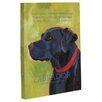 One Bella Casa Doggy Decor Labrador 1 Graphic Art on Canvas