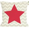 One Bella Casa Chevron Star Reversible Pillow