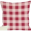 One Bella Casa Crackin Good Lobster Plaid Pillow