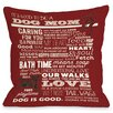 One Bella Casa Doggy Décor Proud to be a Dog Mom Throw Pillow