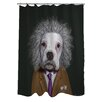 One Bella Casa Pets Rock Brain Polyester Shower Curtain