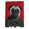 <strong>OneBellaCasa.com</strong> Pets Rock China Polyester Shower Curtain