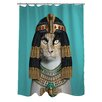 One Bella Casa Pets Rock Cleo Polyester Shower Curtain