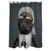 One Bella Casa Pets Rock Fashion Polyester Shower Curtain