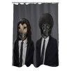 One Bella Casa Pets Rock Hit Dogs Polyester Shower Curtain