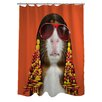 One Bella Casa Pets Rock Funk Polyester Shower Curtain