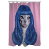 One Bella Casa Pets Rock Gurl Polyester Shower Curtain