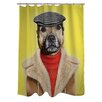 One Bella Casa Pets Rock Dog Boy Polyester Shower Curtain