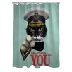 Pets Rock Kitchener Polyester Shower Curtain