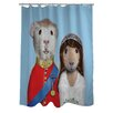 One Bella Casa Pets Rock Mr & Mrs Polyester Shower Curtain