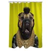 One Bella Casa Pets Rock Fool Polyester Shower Curtain