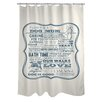 One Bella Casa Doggy Decor Dog Mom Polyester Shower Curtain
