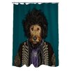 One Bella Casa Pets Rock Psychedelic Polyester Shower Curtain