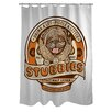 <strong>OneBellaCasa.com</strong> Doggy Decor Stubbies Polyester Shower Curtain
