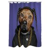 One Bella Casa Pets Rock Rap Polyester Shower Curtain
