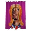 One Bella Casa Pets Rock Redhead Polyester Shower Curtain