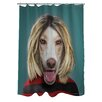 One Bella Casa Pets Rock Grunge Polyester Shower Curtain