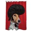 One Bella Casa Pets Rock Rock n' Roll Polyester Shower Curtain